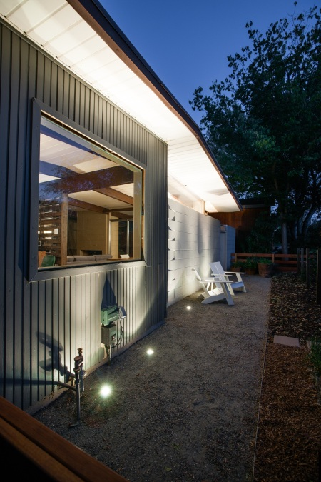 Uplighting and casual patio