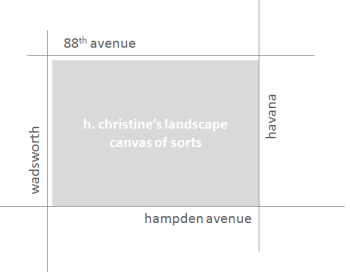 map of h. christine's typical work area